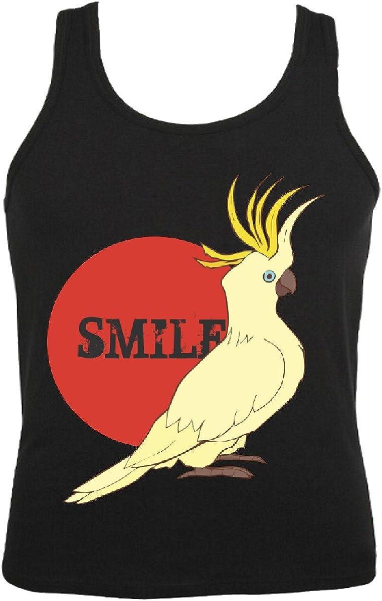 Camisa del músculo Tank Top Parrot - Loros Loros - - Entretenimiento - Aves - Aves de Corral Sin Mangas para Las Mujeres y los Hombres en Negro: Amazon.es: Ropa y accesorios