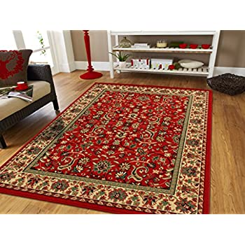 Red Persian Rugs For Living Room 5x8 Red Rugs For Bedroom U0026 Office Rug Reds  Green Part 42
