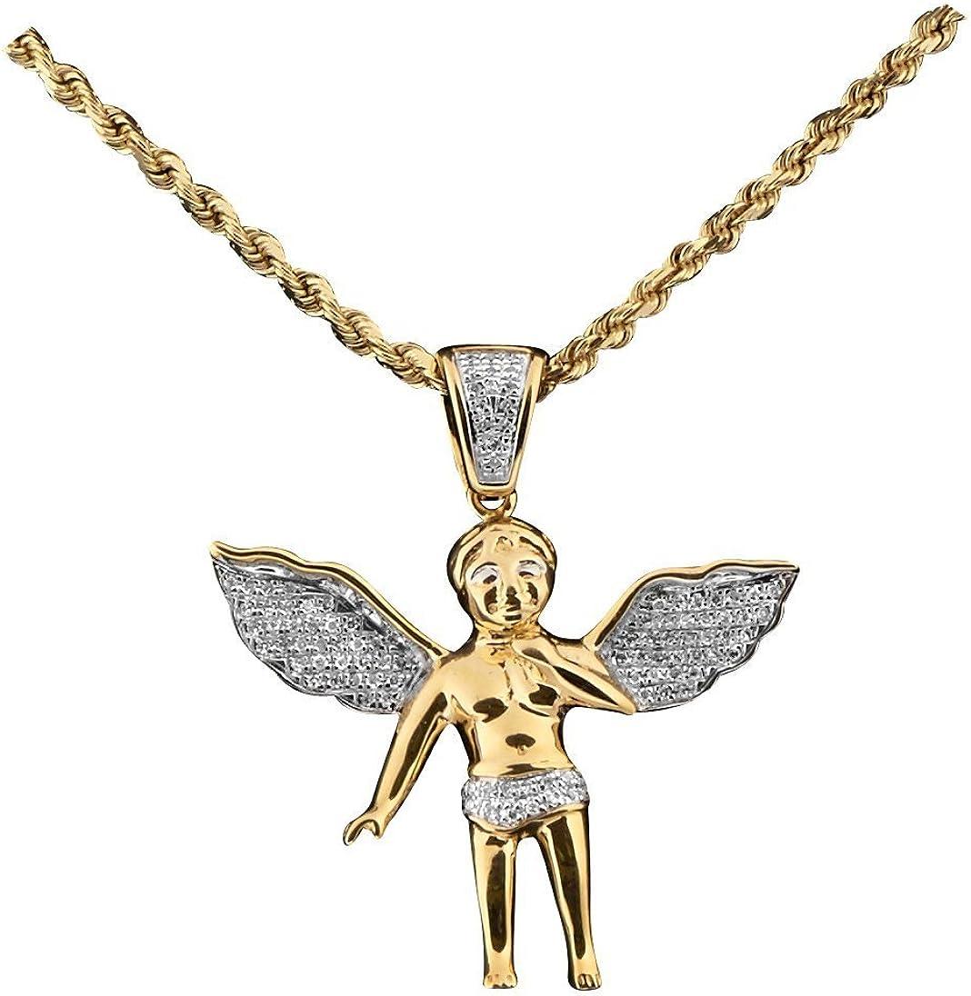 10K YELLOW GOLD ANGEL PENDENT