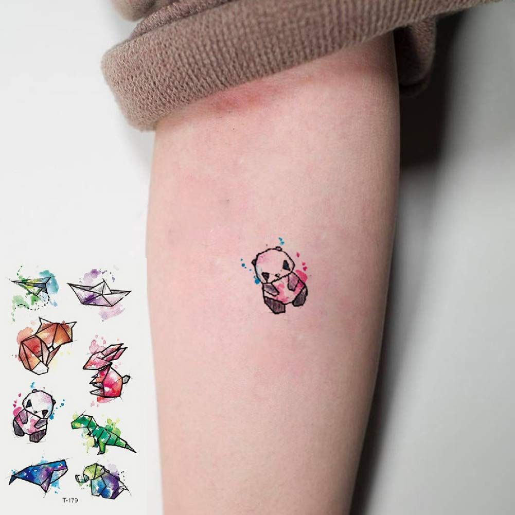 Oottati 2 Hojas Pequeño Lindo Tatuaje Temporal Tattoo Pez ...