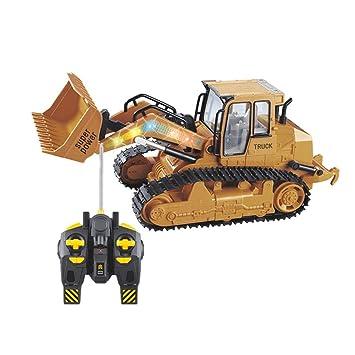 De Tracteur Bulldozer Grand Son Lumière Luerme Simulé Télécommande Modèle Jouet Avec Voiture QrhxdtsCB