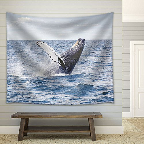 Jumping Whale Fabric Wall