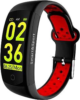 Smart Wristband Fitness Bracelet, Bluetooth Waterproof Fashion Sports Business Sleep Monitor for Men Women and Kids, Pedometer