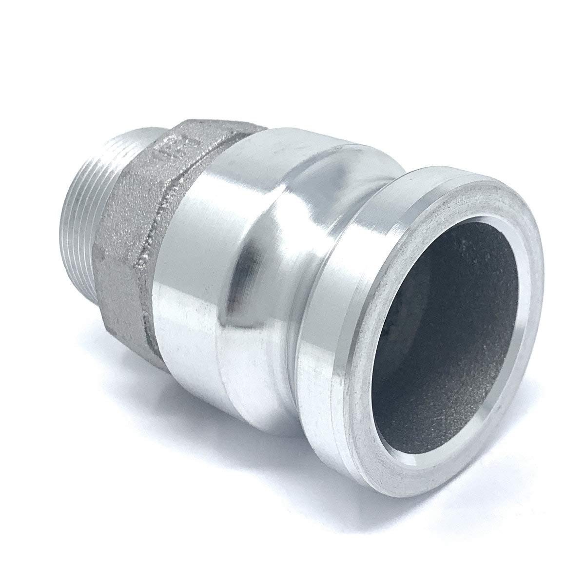Gloxco Aluminum Type F Cam and Groove Fitting 4 Male Camlock Adapter x 4 Male NPT CAM-40-F-AL