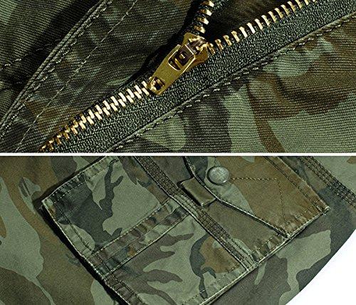 Panegy Adultes Combat Shorts pour Homme/Garçon Coton Bermudas Treillis Militaire Cargo Armée Pantalon de Travail… 4