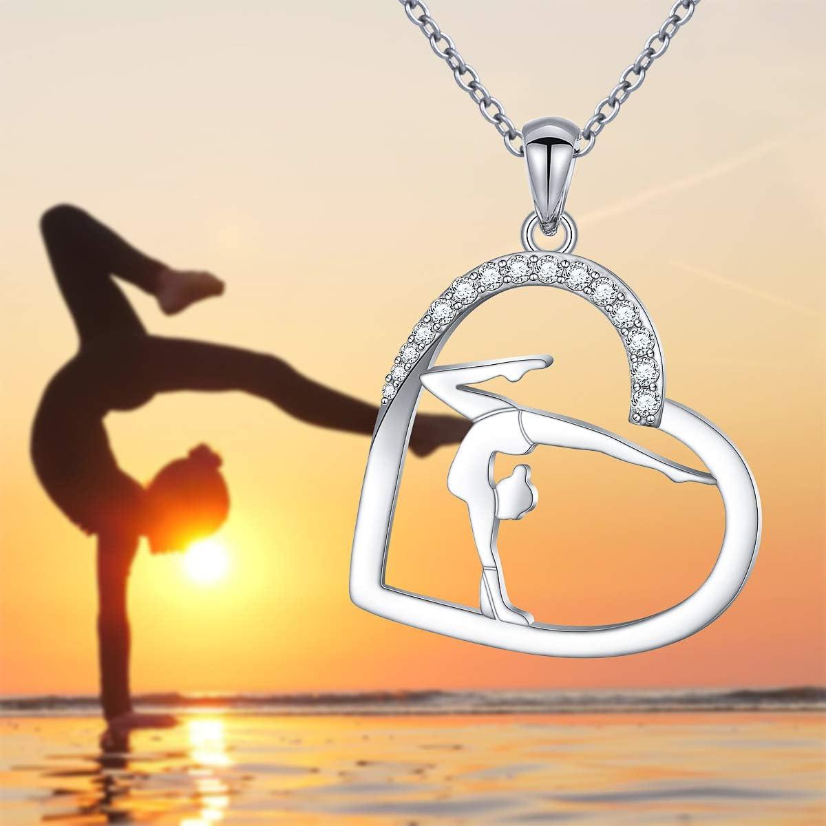 jewelleryjoy Yoga Gymnastics Dance Tibetan Silver Clip On Lobster Clasp Charm