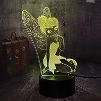 XZHYMJ Nachtlampje 3D Nachtlampje Cartoon Leuke Meisjes Speelgoed Kamer Gift USB Halloween Kids Illusie Beste Geschenken…