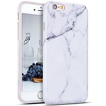 iPhone 6S Plus Funda, iPhone 6 Plus Funda, reverso de mármol ...