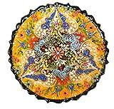 Turkish Ceramics~Hand Painted Ceramic Plate-7 inch-yellow