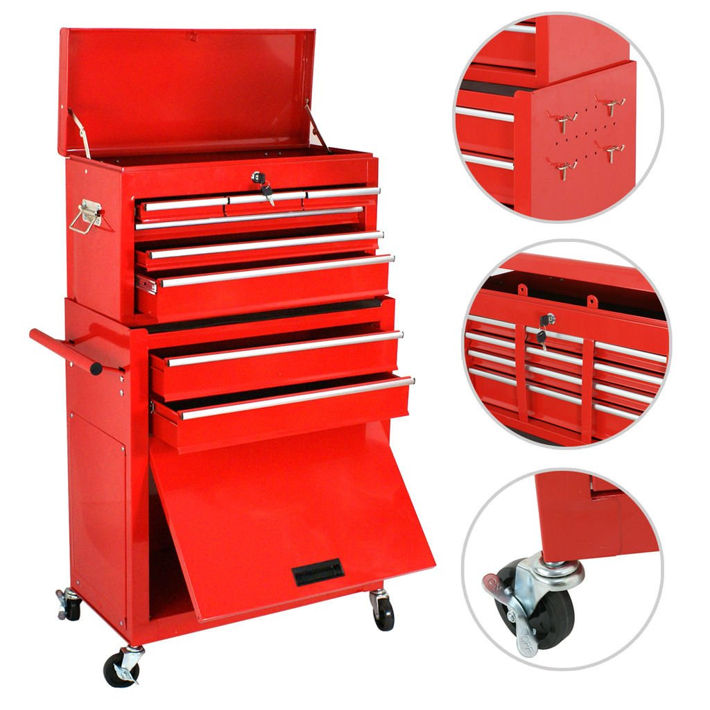 UBRTools Portable Top Chest Rolling Tool Storage Box Cabinet Sliding Drawers by UBRTools