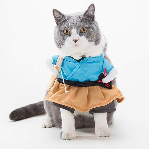 DOGCATMM Divertido Gato Ropa para Perros Cosplay Mascotas Perros Ropa para Perro De Pie Fiesta De Halloween Traje De Mascota Ropa para Gato Ropa para Mascotas Guardapolvos para Perro: Amazon.es: Productos para