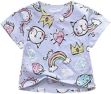 NOBRAND Camiseta para niños Patrón de Dibujos Animados ...
