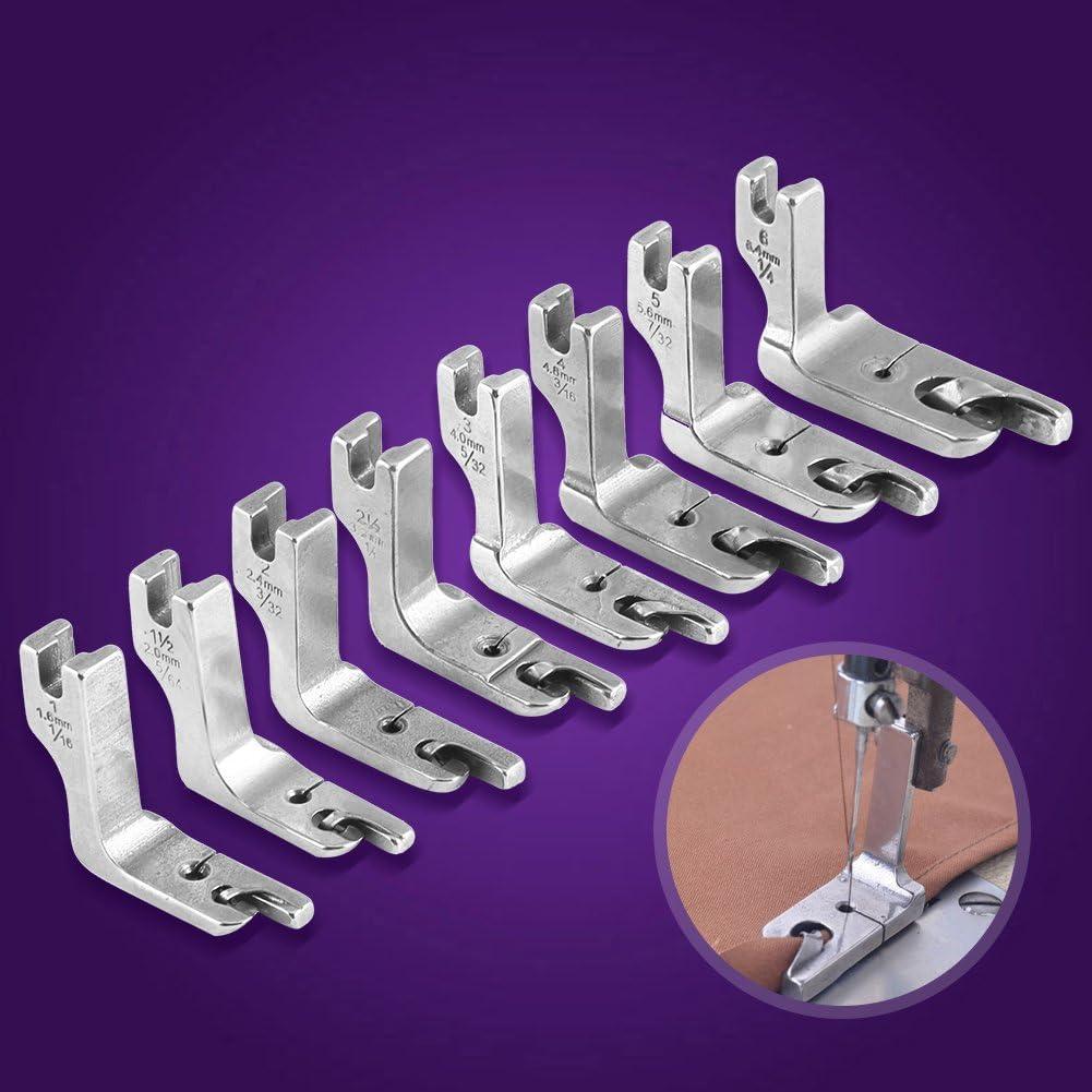 m/áquina de Coser Universal de una Sola Aguja para Cama de Grasa Industrial Prensatelas con Dobladillo Enrollado Sheens Pie Laminado 1.6MM