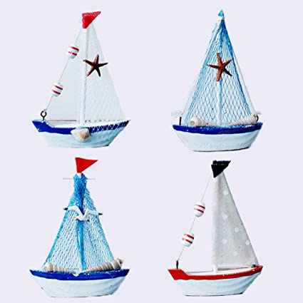 Handcrafted Wooden Nautical Sail Boat Decor//Nautical Themed Wedding//Baby Shower