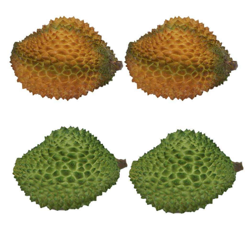 リアルな人工フルーツ人工のリアルなシミュレーションフルーツドリアン偽フルーツドリアン用装飾4パック B07RXC3K1J