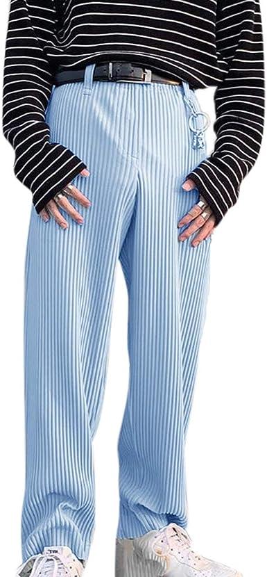 Pantalones Casuales De Moda De Otono Para Hombre Pantalones Anchos Pantalones De Pana De Color Solido Amazon Es Ropa Y Accesorios