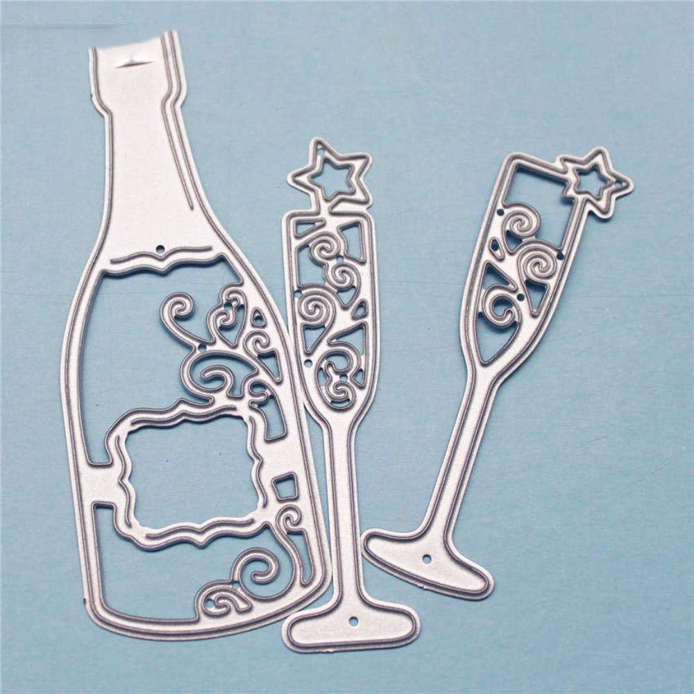 Bottle glass metal crafts paper die cutting dies for Scrapbooking//DIY wedding Halloween Hand account cards,As picture