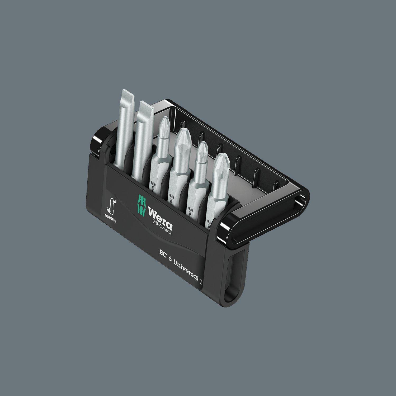 Wera 05073637001 Mini-Check SB Set Torsion Extra-Tough 50 mm Direct Drive Torx TX10-40 6pc
