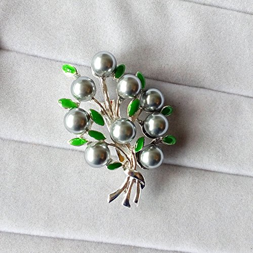 (Elegant dark rts outside the single system with jewelry temperament pearl brooch pin Women)