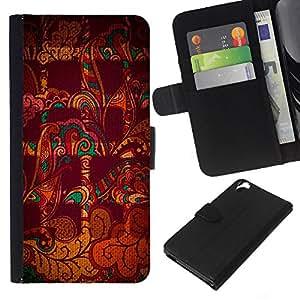 EJOY---La carpeta del tirón la caja de cuero de alta calidad de la PU Caso protector / HTC Desire 820 / --Resumen a cuadros marrón Indian Pattern