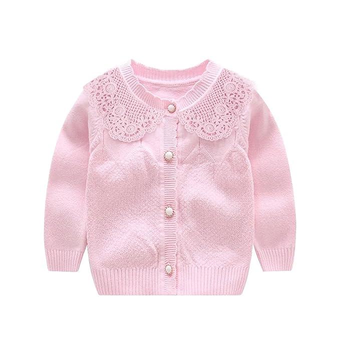 Amazon.com: XIAOHAWANG Knitted Baby Girls Cardigan Toddler Button ...