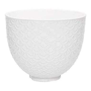 KitchenAid KSM2CB5TWM Ceramic Bowl 5-Quart Mixer- Mermaid Lace White