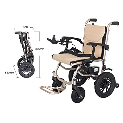 Amazon.com: YOLANDEK Lightweight Folding Electric Wheelchair ...