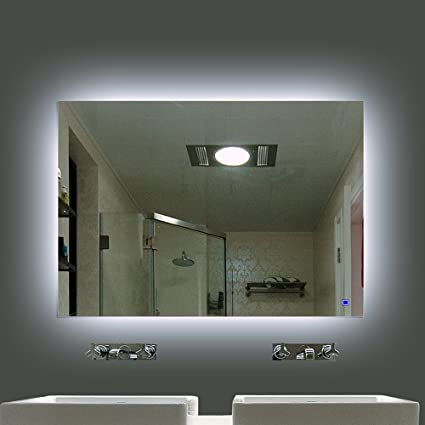Amazon hans alice dimmable led backlit mirror anti fog hans alice dimmable led backlit mirror anti fog illuminated vanity mirror bathroom mirror with aloadofball Gallery