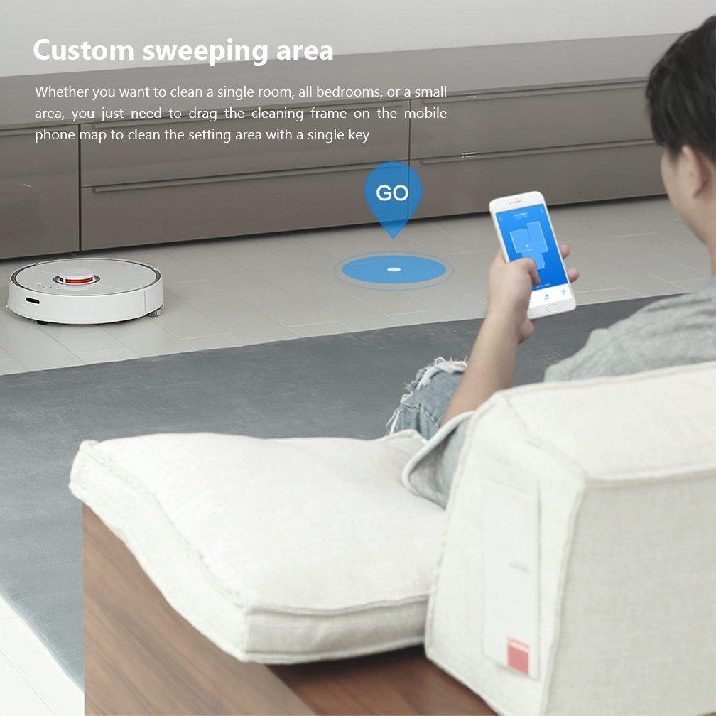 Mi XIAOMI Robot Aspirador 2 Limpieza Inteligente para Home Office Sweep Wet Mopping App Control 5200mAh Battery 2000Pa Sucking Force: Amazon.es: Hogar
