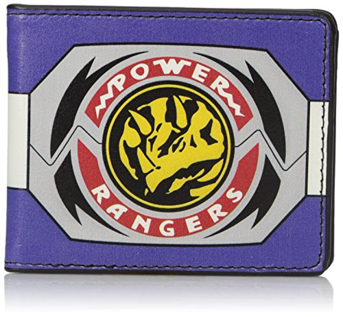 Buckle-Down Men's Wallet Power Rangers Blue Ranger Triceratops Morpher Accessory, -Multi, One Size