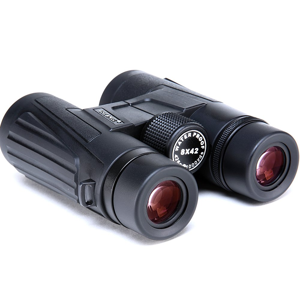 USCAMEL 8x42 Binoculars, Portable, Waterproof, Anti-fog, Outdoor Travel, ED High Definition Optical Coating, Black by USCAMEL