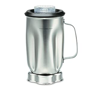 Waring Commercial CAC35 Complete Stainless Steel Container with Blade and Lid, 32-Ounce