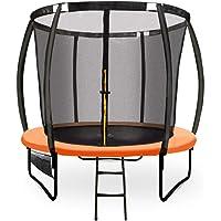 8ft Round Trampoline Enclosure Safety Net Mat Spring Pad Ladder KickDeck