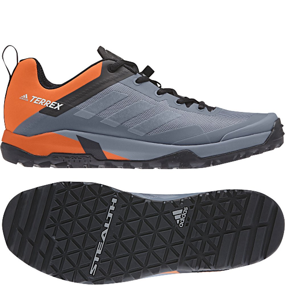 adidas outdoor Mens Terrex Trail Cross SL B072W9Y5JK 8 D(M) US|Raw Steel, Grey One, Orange