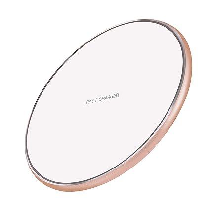 Amazon.com: Cargador inalámbrico ultrafino estándar Qi para ...