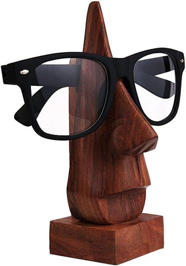 Classic Hand soporte de palisandro en forma de nariz, soporte para lentes, gafas, regalo especial para Viernes Santo