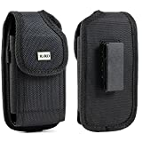 XXL SIZE Google Nexus 6P / 6 Vertical Nylon Case Pouch Holster with VELCRO Closure with Swivel Belt Clip Fits OTTER BOX Defender / LIFEPROOF / Mophie Juice Pack Air/Plus Case On
