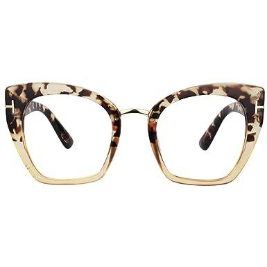 1bf5caa73bce Zeelool Women's Cat Eye Glasses Frame for Women Lulu VFP0255 (VFP0255-01  Light Tortoise