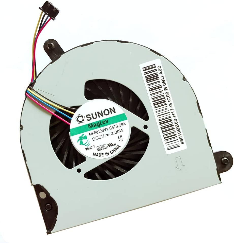 Replacement Compatible Laptop CPU Cooling Fan Cooler for HP Probook Elitebook 8570P 6570B Series 49010B900-600-G 49010BB00-H17-G Foxconn NFB65B05H-002 FSFA10M 4 Wire MF60120V1-C470-S9A 686311-001