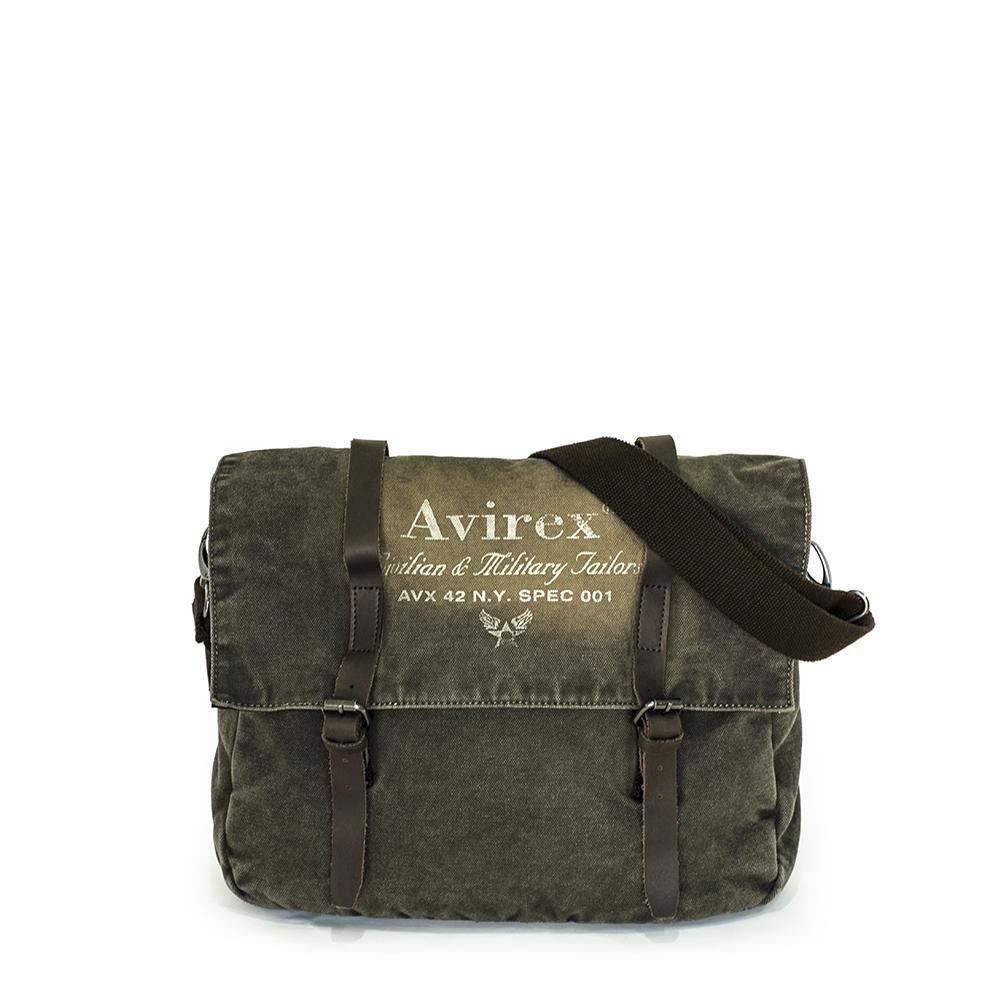 Avirex - 140506 - borsa porta pc a tracolla unisex 1 scomparto verde militare cod. d