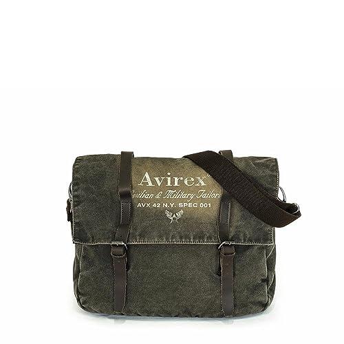 Avirex - 140506 - borsa porta pc a tracolla unisex 1 scomparto verde  militare cod. d  Amazon.it  Scarpe e borse cd1ad4ffd57
