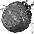 Bluetooth Speaker MANTO Cuckoo Portable Wireless Mini Waterproof Stereo Sound System Shower, Outdoor Hiking, Camping, Cycling - Grey