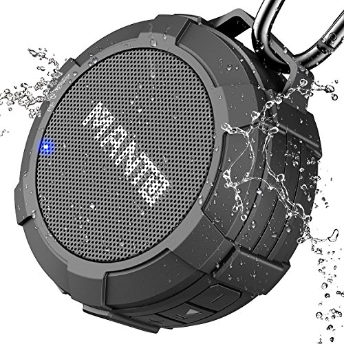 Bluetooth Speaker MANTO Cuckoo Portable Wireless Mini Waterproof Stereo Sound System for Shower, Outdoor Hiking, Camping, Cycling - Grey by MANTO