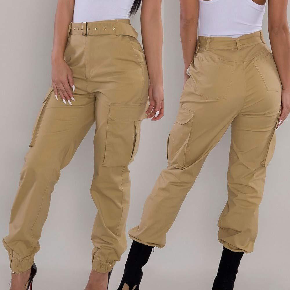 bd1831b13989b Coloré(TM Pantalon Militaire de Combat, Femme Imprimé Camouflage Cargo  Casual Slim Sport Jogging Taille Haute Cargo Hip Hop Trousers