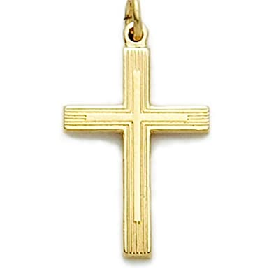 Amazon 14k gold filled diamond cut cross pendant with overlay 14k gold filled diamond cut cross pendant with overlay design 78 inch audiocablefo