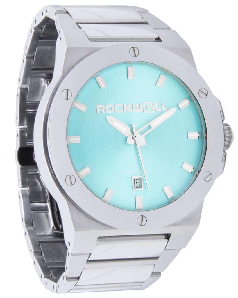 Rockwell Time Men's Commander Edition Watch, Silver/Teal Limited