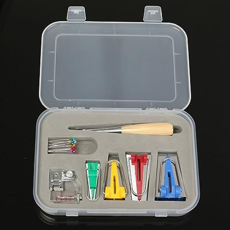 TAPCET prensatelas maquina coser Conjunto Fabricante de cinta al bies Accesorios para Costura y acolcha +
