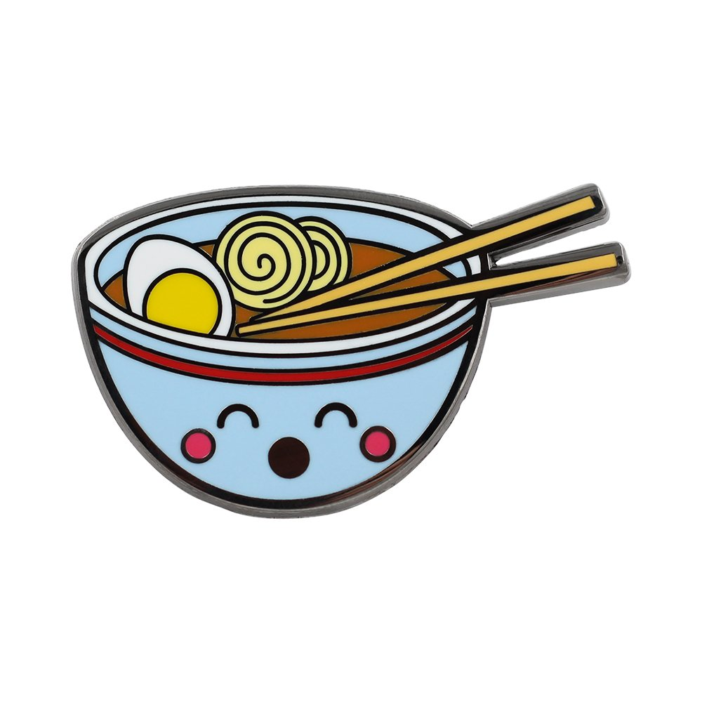 Real Sic Ramen Pin by Cute Enamel Pin - Kawaii Ramen Bowl With An Egg by Real Sic