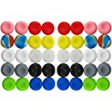 BeautyMood 40pcs Colorful Silicone Accessories Replacement Parts Thumb Grip Cap Cover For PS2, PS3, PS4, PS5, XBox 360, XBox
