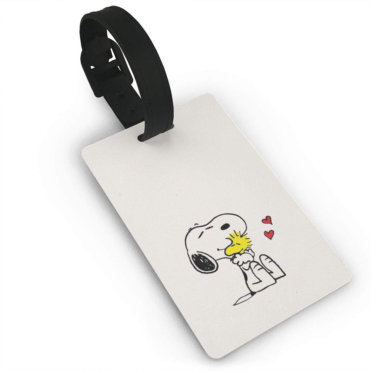 荷物IDタグ - スタイリッシュ キュート スヌーピー プリント PVC スーツケース バッグ ラベル トラベル アクセサリー B07N7HTY37